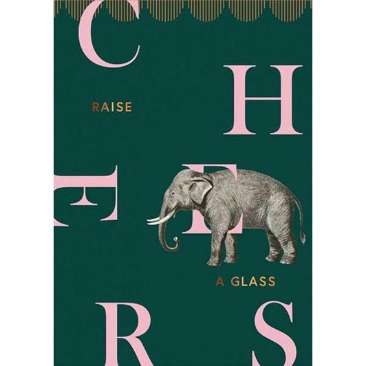 Cheers Elephant Foil Card