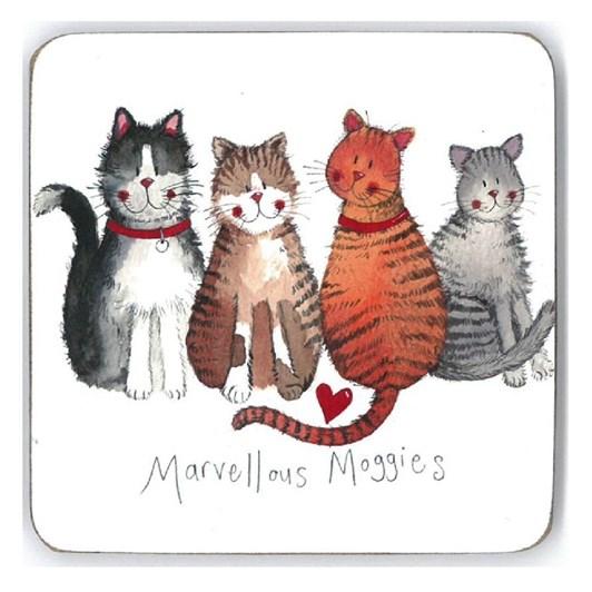 Alex Clark Marvellous Moggies Coaster