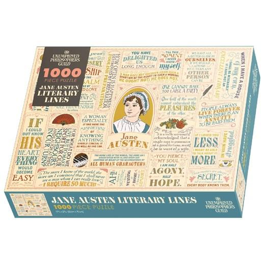 Unemployed Philosophers Guild Jane Austen Literary Lines 1000 Piece Puzzle
