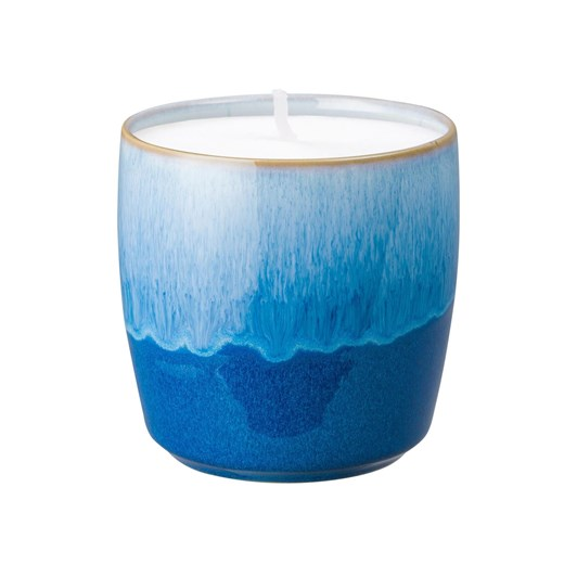 Denby Blue Haze Candle Pot 9Cm