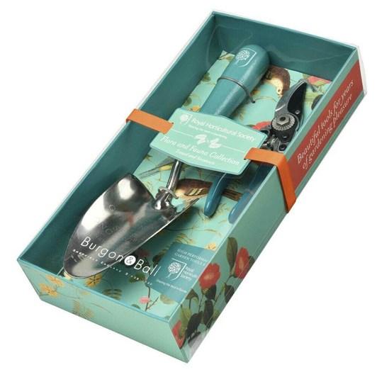 Burgon & Ball RHS Flora & Fauna Gift Boxed Trowel & Secateurs