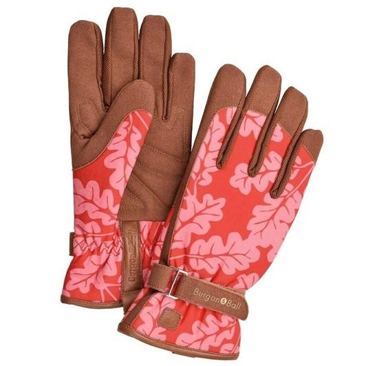 Burgon & Ball Love The Glove Oak Leaf Poppy M/L