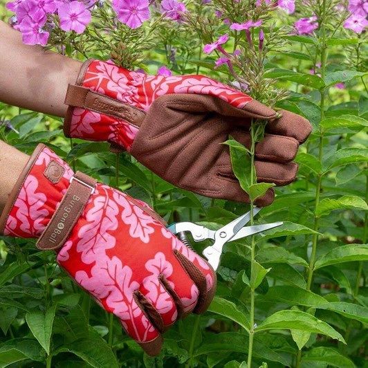 Burgon & Ball Love The Glove Oak Leaf Poppy S/M