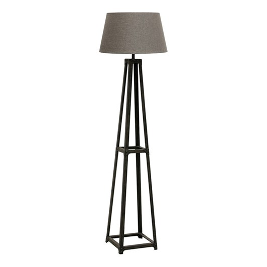 CC Interiors Industrie Eiffel Metal Floor Lamp With Charcoal Shade 46cm