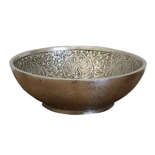 CC Interiors Persian Pewter Style Beaten Bowl