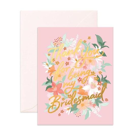 Fox & Fallow Thank You Bridesmaid Bohemia Card