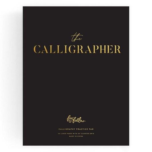 Fox & Fallow The Calligrapher Practice Pad - Black