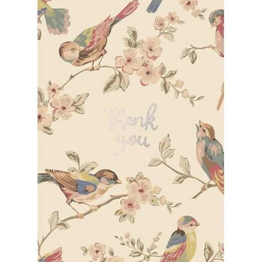 Thank You Birds Foil Card