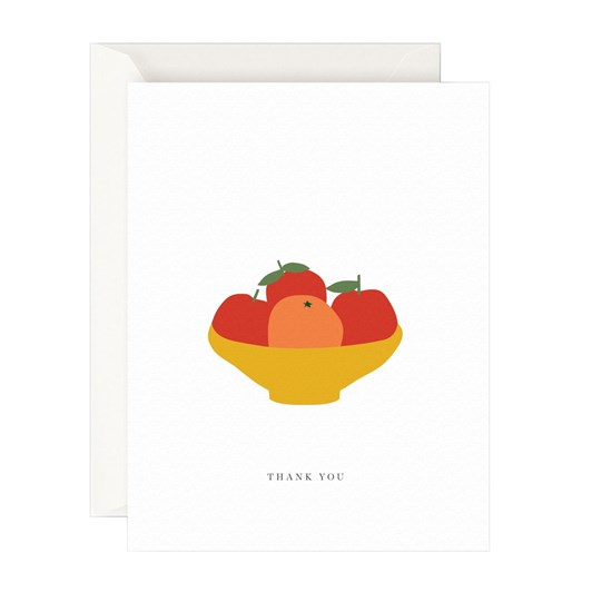 Father Rabbit Stationery Thank You Oranges Card
