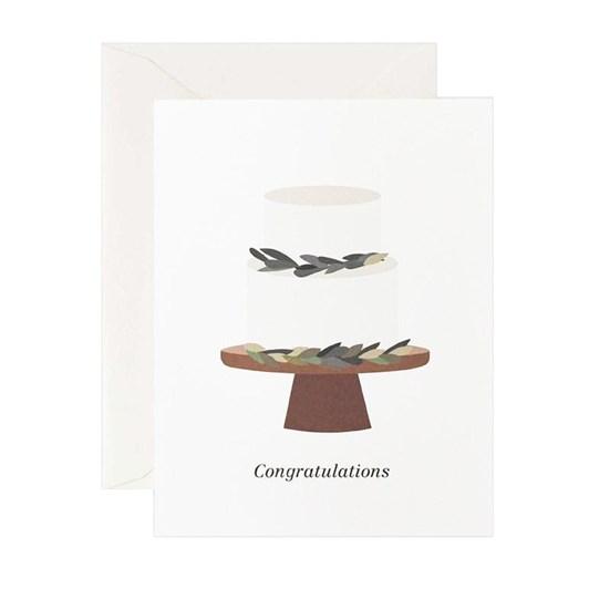 Father Rabbit Stationery Wedding Cake Congratulations Card