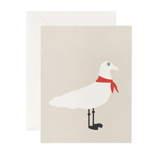 Father Rabbit Stationery Seagull Red Scarf Card