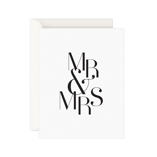 Father Rabbit Stationery Mr & Mrs Card