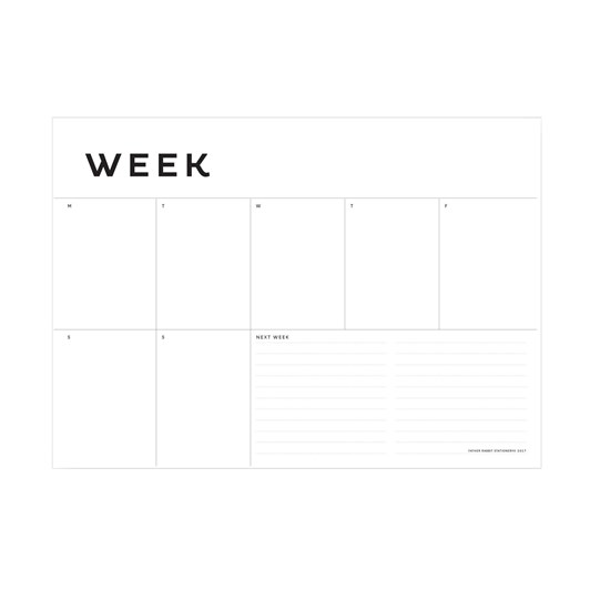 Father Rabbit Stationery A4 Week Planner