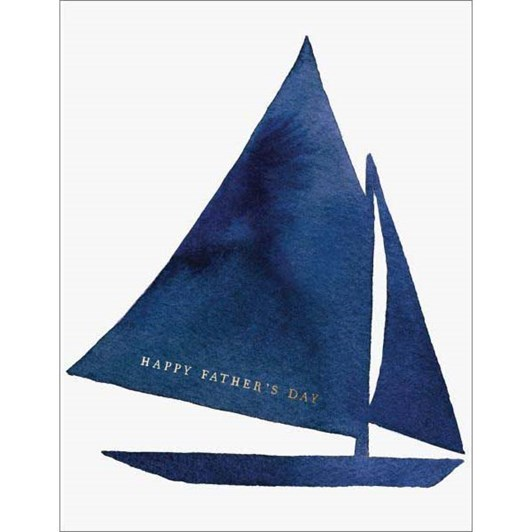 Father's Day Sail Boat Foil Card