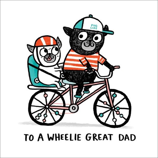 Wheeli Great Dad Card
