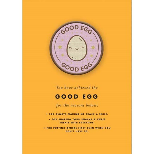 Good Egg Patch Card