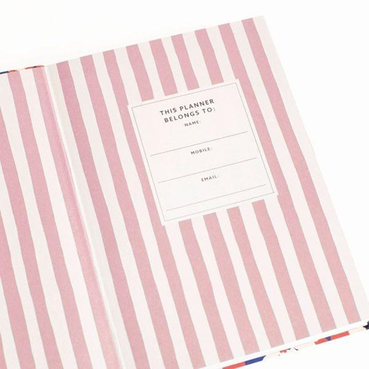 Cath Kidston A5 Cream Floral Linen Daily Planner