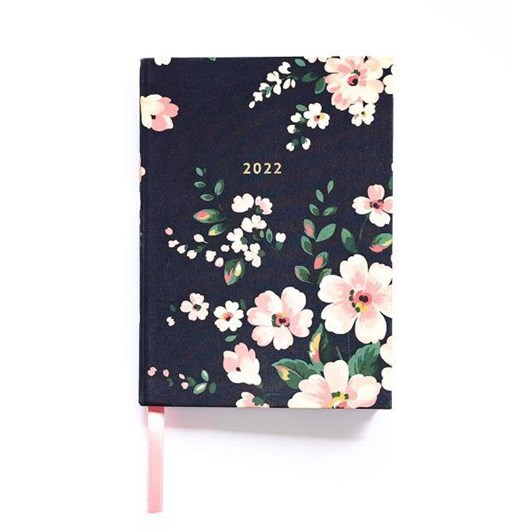 Cath Kidston A5 2022 Dark Floral Linen Diary