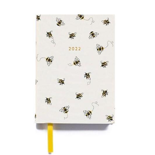Cath Kidston A5 2022 Bees Linen Diary