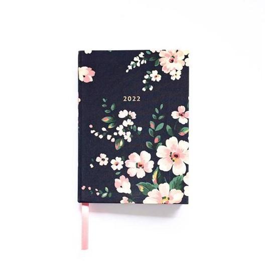 Cath Kidston A6 2022 Dark Floral Linen Diary