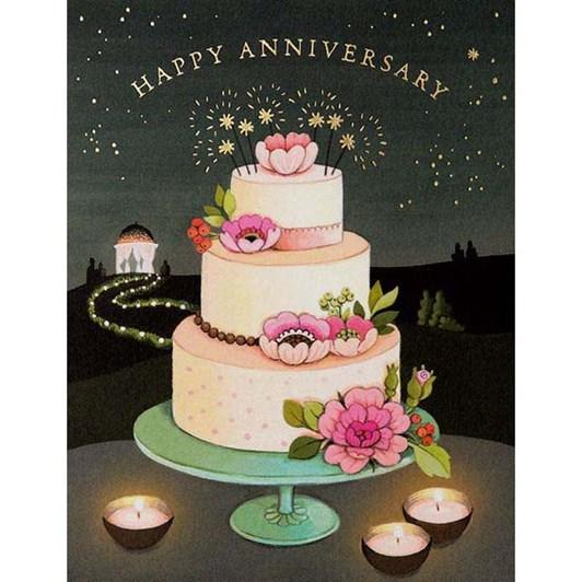 Anniversary Cake Foil Card