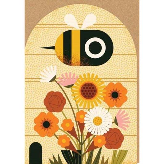 Birthday Bee Die Cut Card