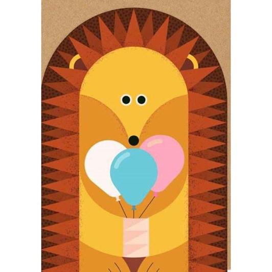 Birthday Hedgehog Die Cut Card