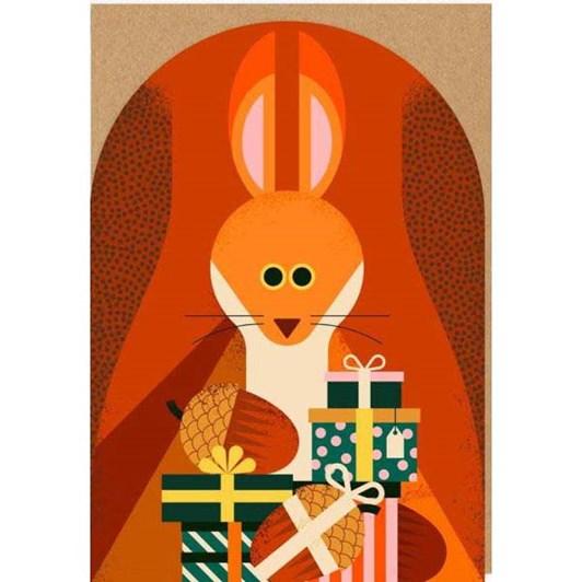 Birthday Squirrel Die Cut Card