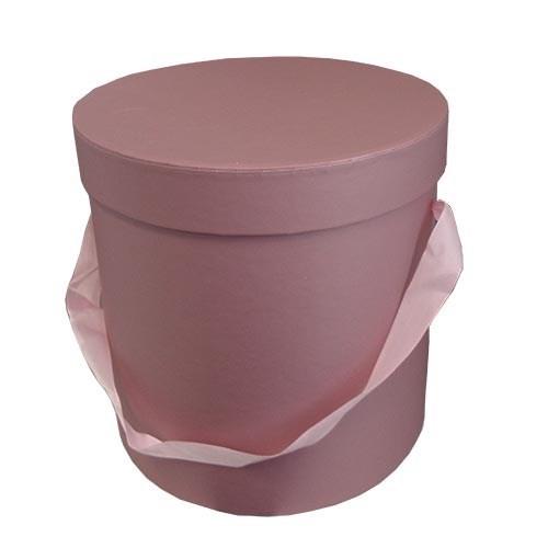 Round Flower Box - Dusky Pink