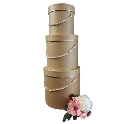 Round Flower Box - Kraft