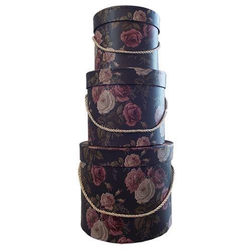 Round Flower Box - Roses