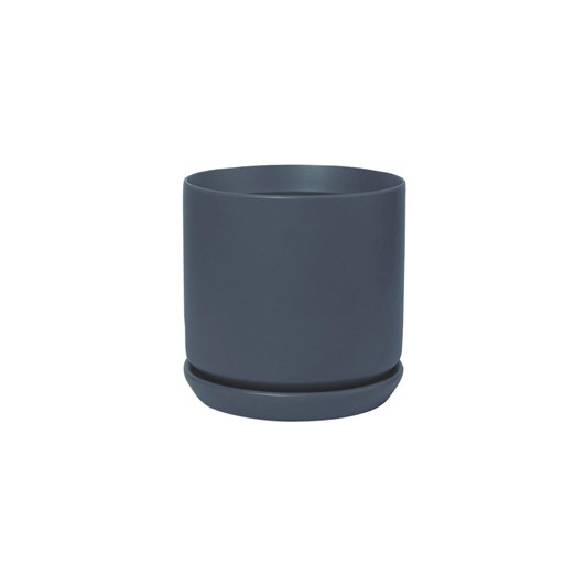Potted Oslo Small Planter - Navy