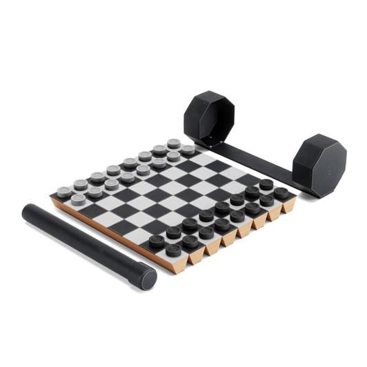 Umbra Rolz Chess & Checker Set Black