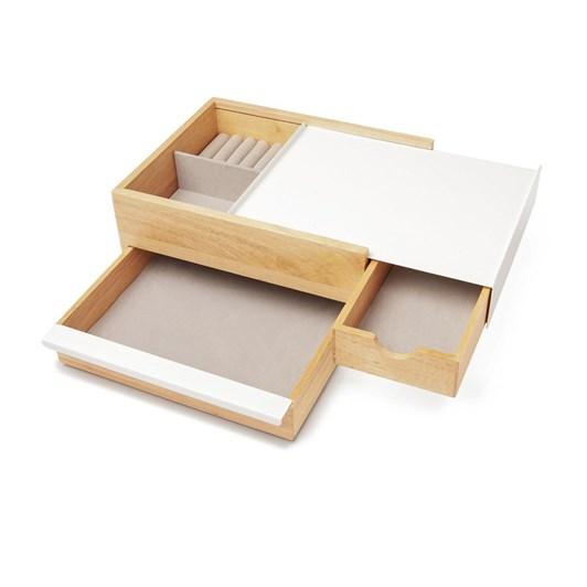Umbra Stowit Jewelry Box White/Natural