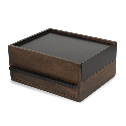 Umbra Stowit Jewelry Box Black/Walnut