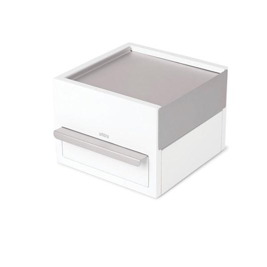 Umbra Stowit Mini Jewelry Box White/Nickel