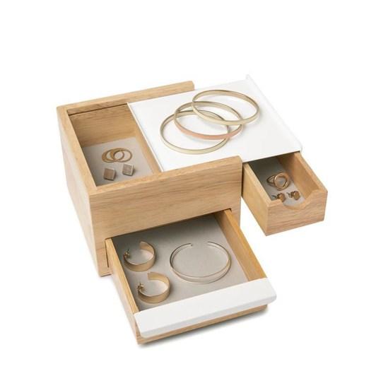 Umbra Stowit Mini Jewelry Box White/Natural