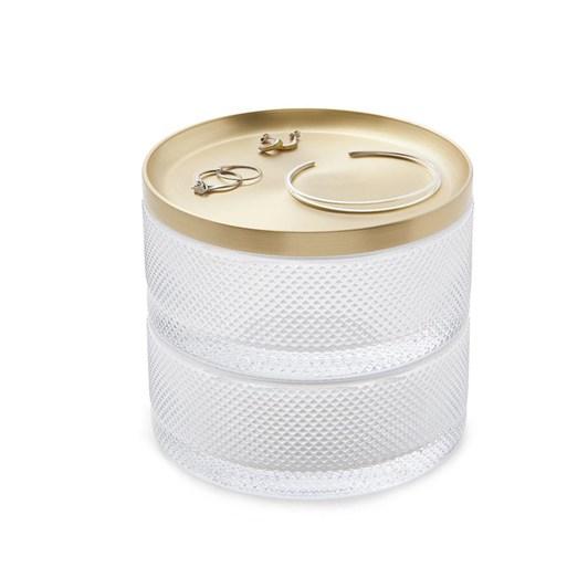 Umbra Tesora Storage Box Glass Clear/Brass