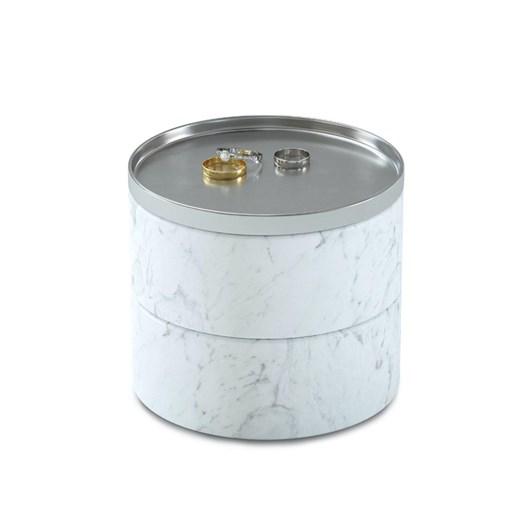 Umbra Tesora Storage Box Marble White/Nickel