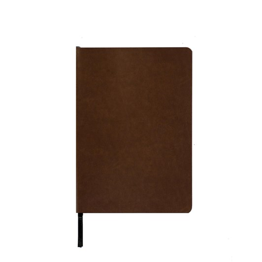 An Organised Life Brown Lined Vegan Leather Notebook