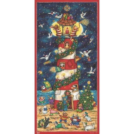 Kirsch Verlag Christmas At A Lighthouse Large Poster Advent Calendar