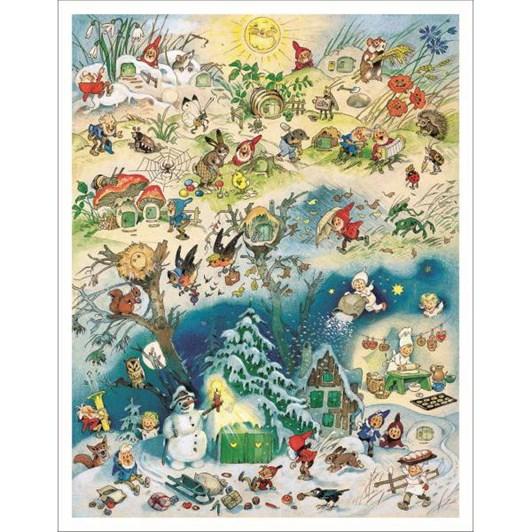 Kirsch Verlag Four Seasons Large Poster Advent Calendar