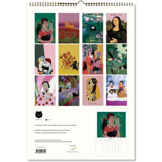 Hello Sunday Niaski Large Calendar