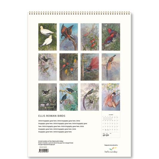 Hello Sunday Ellis Rowan Birds Medium Calendar