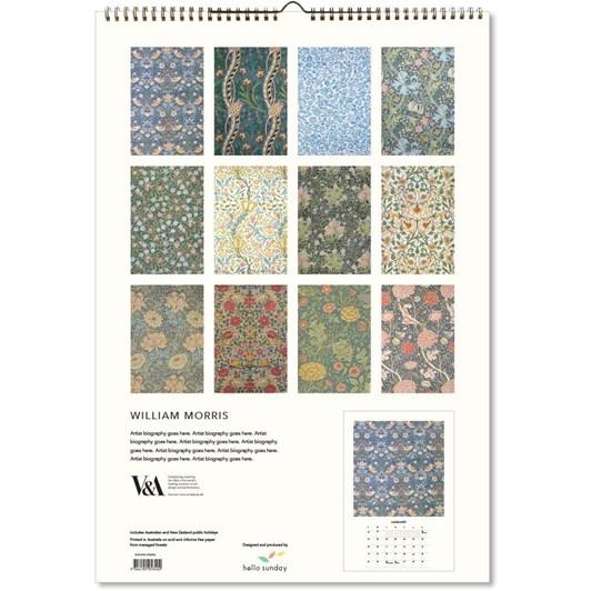 Hello Sunday William Morris Large Calendar