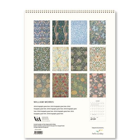 Hello Sunday William Morris Medium Calendar