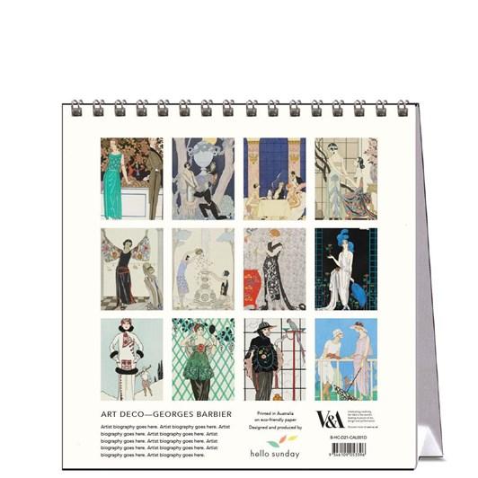 Hello Sunday Art Deco Georges Barbier Desk Calendar
