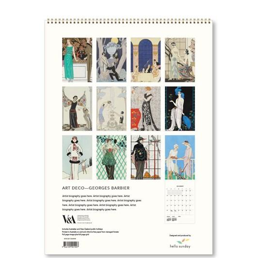 Hello Sunday Art Deco Georges Barbier Medium Calendar