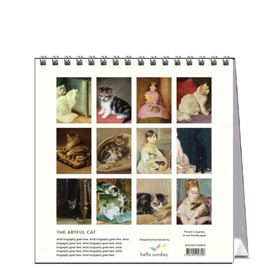 Hello Sunday The Artful Cat Desk Calendar