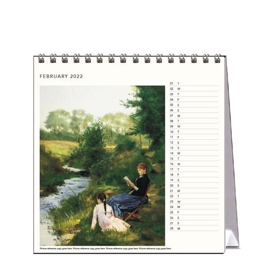 Hello Sunday The Reading Woman Desk Calendar